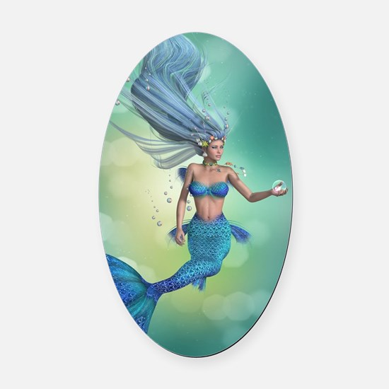 Enchanted Mermaid Oval Car Magnet