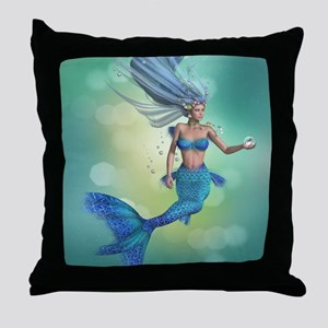 Enchanted Mermaid Throw Pillow
