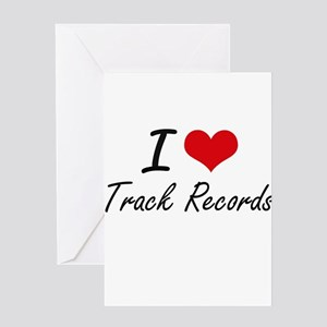 I love Track Records Greeting Cards