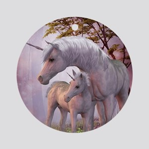Enchanted Unicorns Round Ornament