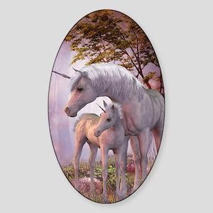 Enchanted Unicorns Sticker (Oval)