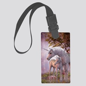 Enchanted Unicorns Large Luggage Tag
