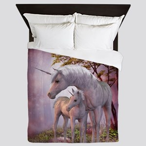 Enchanted Unicorns Queen Duvet