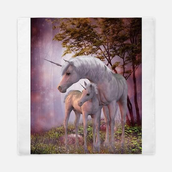 Enchanted Unicorns Queen Duvet