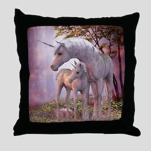 Enchanted Unicorns Throw Pillow