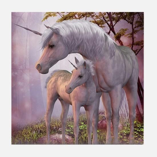 Enchanted Unicorns Tile Coaster