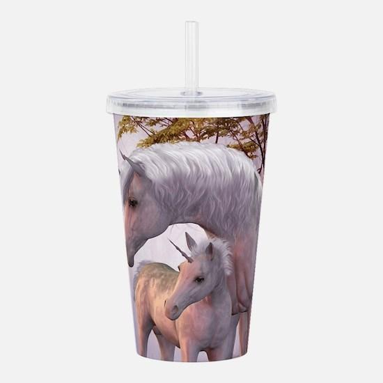Enchanted Unicorns Acrylic Double-wall Tumbler