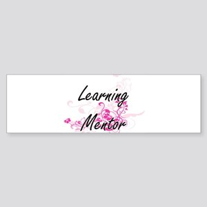 Learning Mentor Artistic Job Design Bumper Sticker