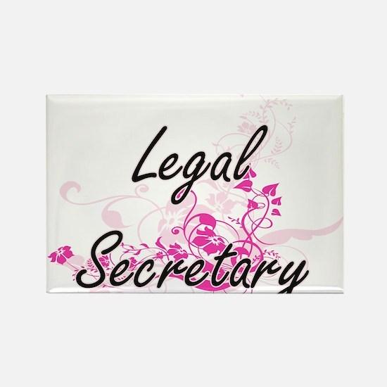 Legal Secretary Artistic Job Design with F Magnets
