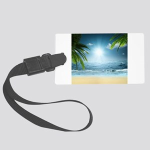 Tropical Beach Large Luggage Tag