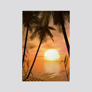 Tropical Sunset Rectangle Magnet