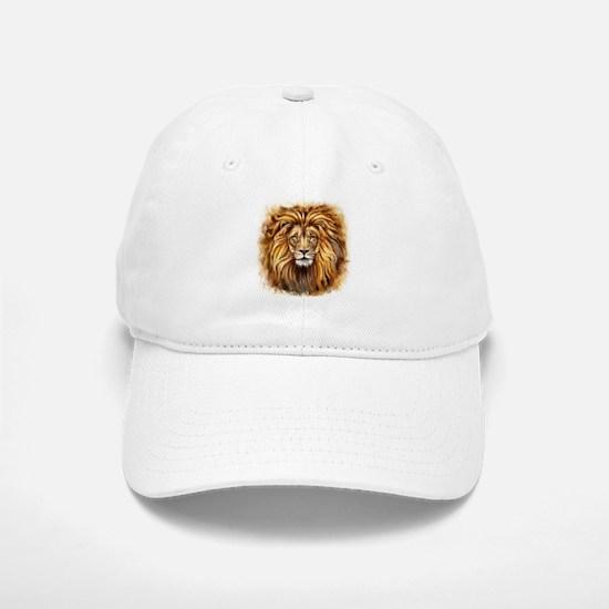 Artistic Lion Face Baseball Baseball Cap