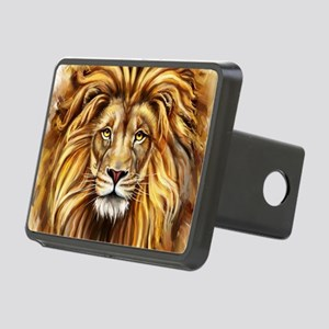 Artistic Lion Face Rectangular Hitch Cover