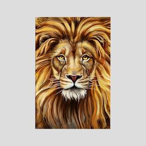 Artistic Lion Face Rectangle Magnet