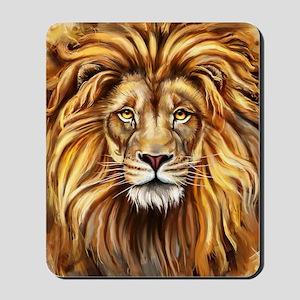 Artistic Lion Face Mousepad