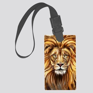 Artistic Lion Face Large Luggage Tag