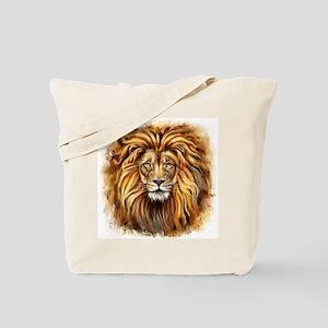 Artistic Lion Face Tote Bag