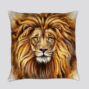 Artistic Lion Face Everyday Pillow