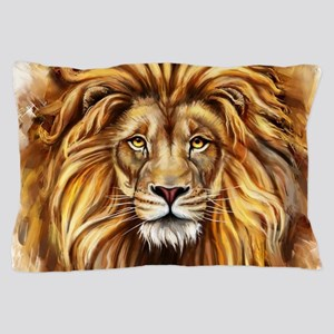 Artistic Lion Face Pillow Case