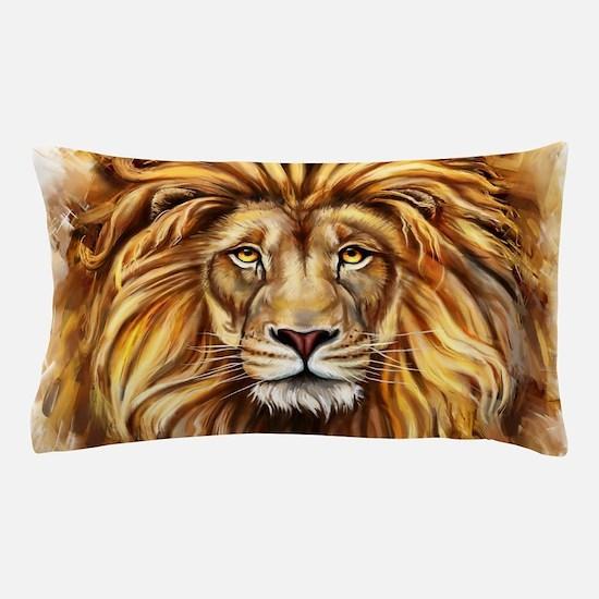 Artistic Lion Face Pillow Case