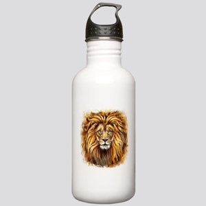 Artistic Lion Face Stainless Water Bottle 1.0L