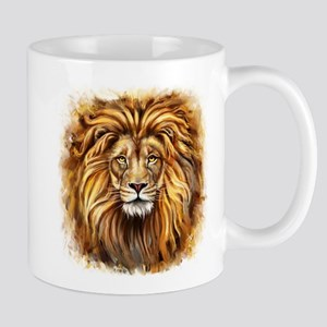 Artistic Lion Face Mug
