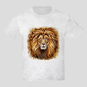 Artistic Lion Face Kids Light T-Shirt