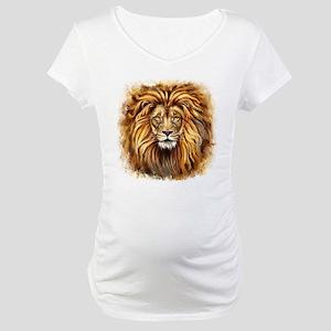 Artistic Lion Face Maternity T-Shirt