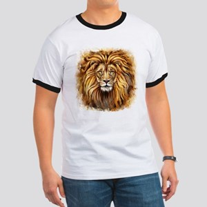 Artistic Lion Face Ringer T