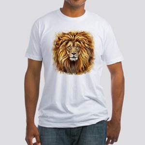 Artistic Lion Face Fitted T-Shirt