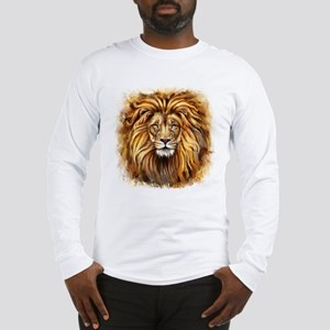 Artistic Lion Face Long Sleeve T-Shirt