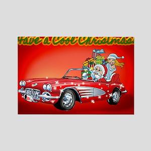 Vintage Car Santa Magnets