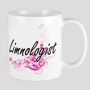 Limnologist Artistic Job Design with Flowers Mugs