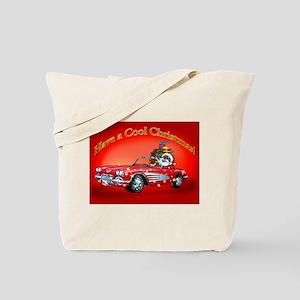 Vintage Car Santa Tote Bag