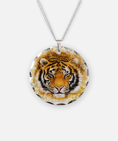 Artistic Tiger Face Necklace