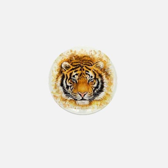 Artistic Tiger Face Mini Button