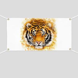 Artistic Tiger Face Banner
