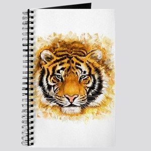 Artistic Tiger Face Journal