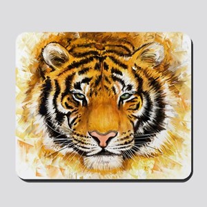 Artistic Tiger Face Mousepad