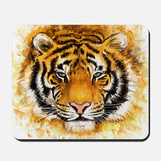 Artistic Tiger Face Mousepad