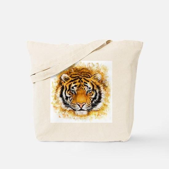 Artistic Tiger Face Tote Bag