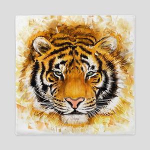 Artistic Tiger Face Queen Duvet