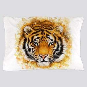 Artistic Tiger Face Pillow Case