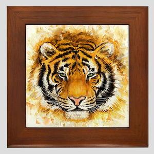 Artistic Tiger Face Framed Tile