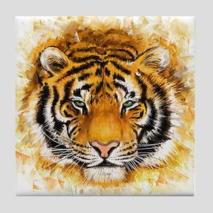 Artistic Tiger Face Tile Coaster
