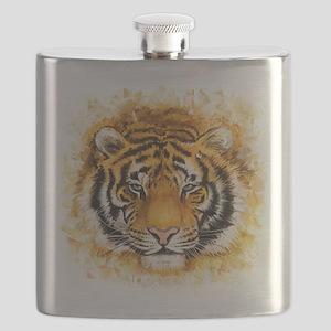 Artistic Tiger Face Flask