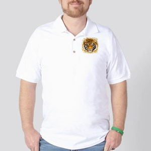 Artistic Tiger Face Golf Shirt