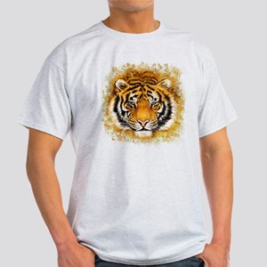 Artistic Tiger Face Light T-Shirt
