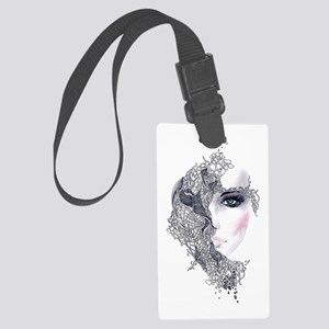 Artistic Female Head Large Luggage Tag