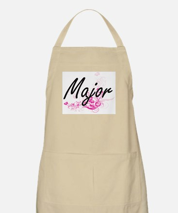 Major Artistic Job Design with Flowers Apron